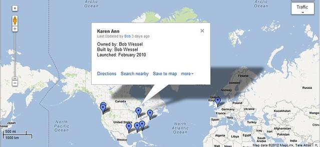 Google map for Goat Island Skiffs.