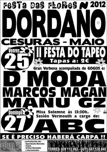 Cesuras 2012 - Festa das Flores en Dordaño - cartel