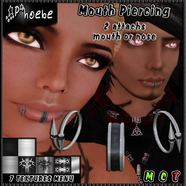 *P* Spikes Mouth Piercing - $55L Offer