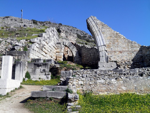 Ancient Theatre, built by Philip II in the 4th century BC and later reconstructed by the Romans, Philippi