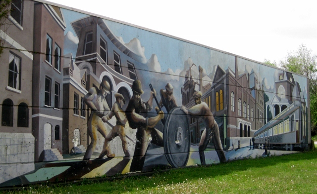 Pullman historic district mural flickr photo sharing for Chicago mural group