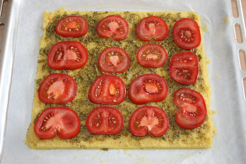 18 - Mit Tomaten belegen / Add tomato slices