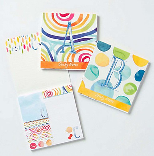 monogram notcards for anthropologie