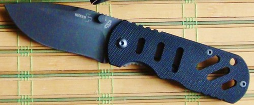 "Boker Plus Chad Hyper ""Justice Is Done"" Special Run, 2-3/4"" Black Combo Blade, G10 Handles"