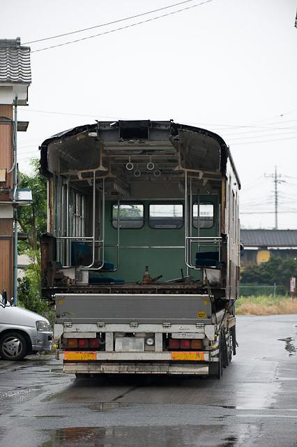 秩父鉄道1000系 1002F クハ1202 解体搬出陸送
