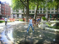Leicester Square fountains