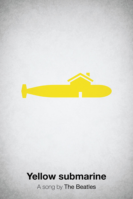 Pictogramas da música Yellow Submarine