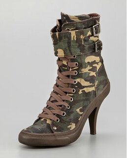 Ash Camouflage Sneaker Ankle Boot NM Retail $235 on sale for $117