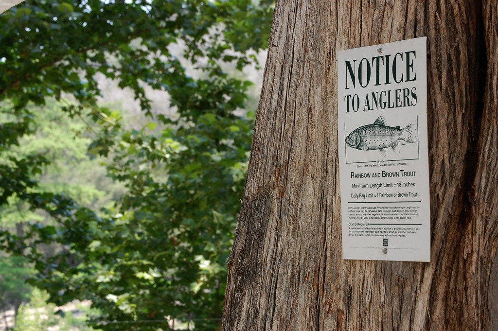 notice to anglers...