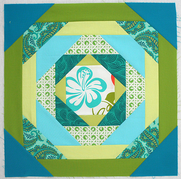 Improv pineapple block for Angela
