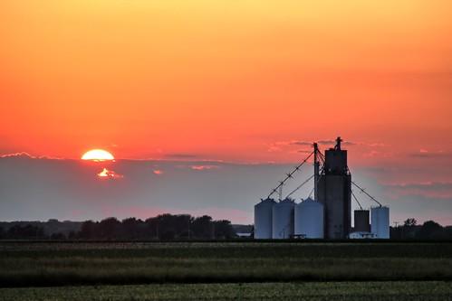 Sunset in St. Joseph Illinois
