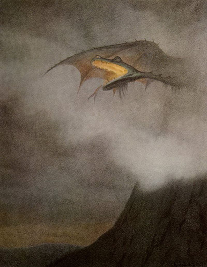 Theodor Kittelsen - Dragon Awakens