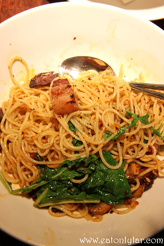 Spicy Bacon & Mushrooms Pasta, S.Wine Café