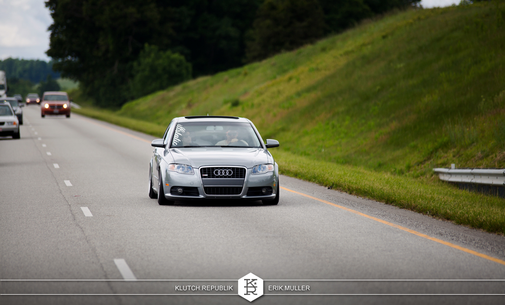 grey b7 audi a4 on mercerdes alphards at southern worthersee 2012