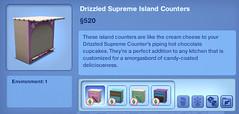 Drizzled Supreme Island Counters