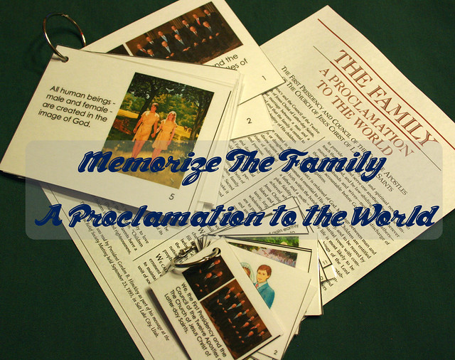 memorize the proclamation