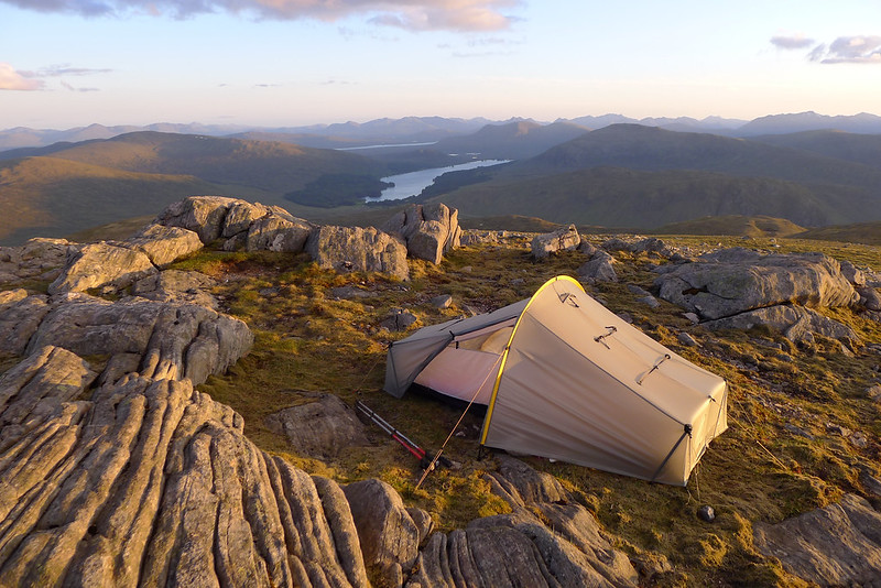 Camping above Loch Ossian