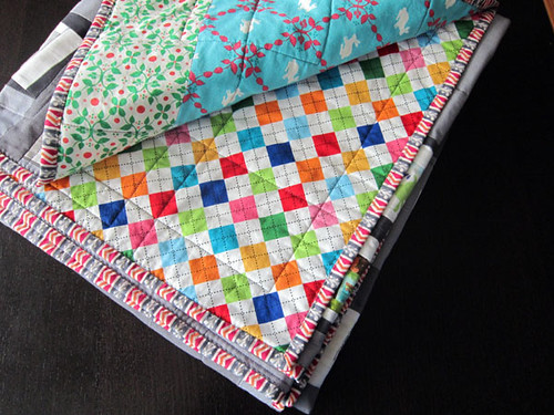 Remix Argyle and Modern Whimsy backings