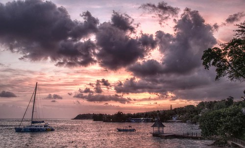sunset sea holiday clouds jamaica catamaran ochorios