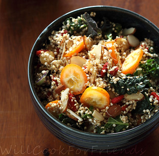 Sprouted Quinoa Salad