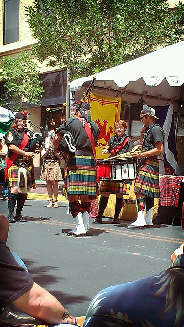 Bagpipes at ABQ summerfest