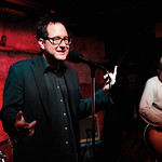 Wed, 26/03/2014 - 3:23pm - The Hold Steady on release day for Teeth Dreams, at Hill Country BBQ in NYC, with an audience of WFUV Marquee Members. Hosted by Dennis Elsas. Photo by Gus Philippas.
