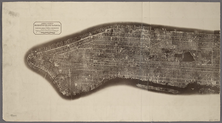 new york map historic