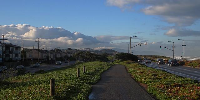 on Great Highway boardwalk at Ocean Beach, San Francisco (2014)