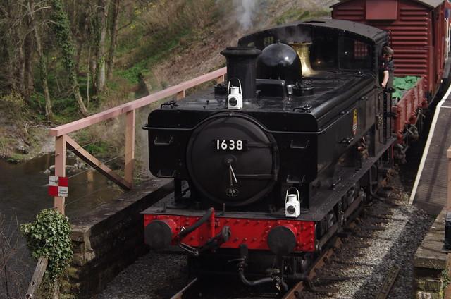 1638, BR 1600 class 0-6-0PT, Berwyn, 5th April 2014