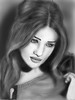 Digital portrait Rosie Huntington 1