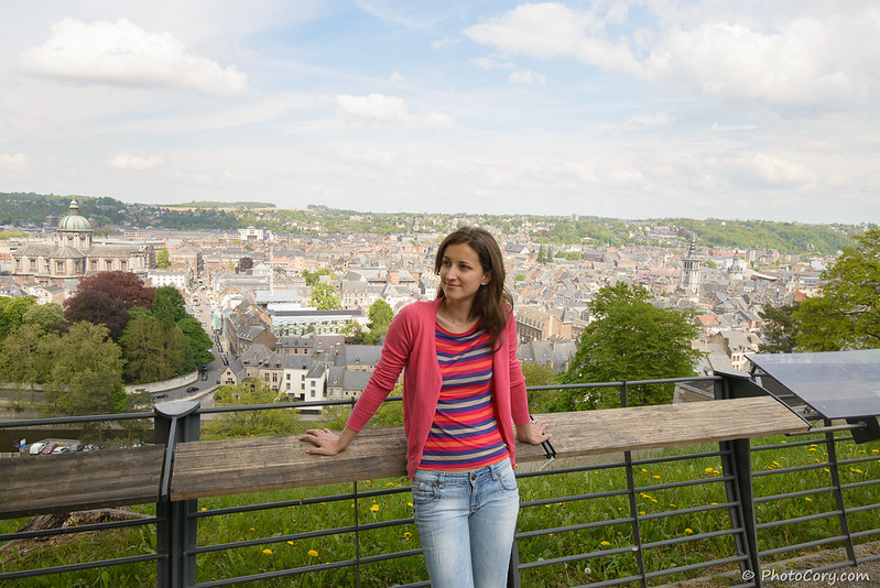 view from Namur Citadel