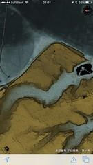 東京時層地図で谷中。