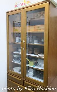 食器棚整理、片づけ前