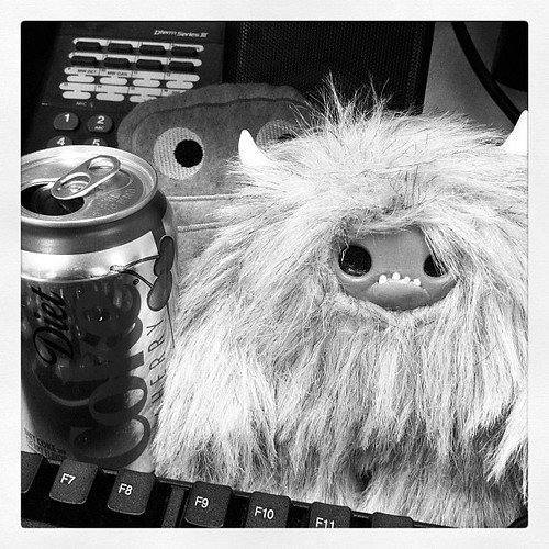 Diet coke runs this office. Small yetis don't hurt either.