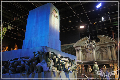 The Establishing Shot: The Making of Harry Potter Tour - Interior Sets Ministry of Magic Magic is might statue 58 crushed Muggles by Craig Grobler