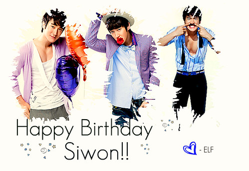Happy Birthday - Choi Si Won ♥