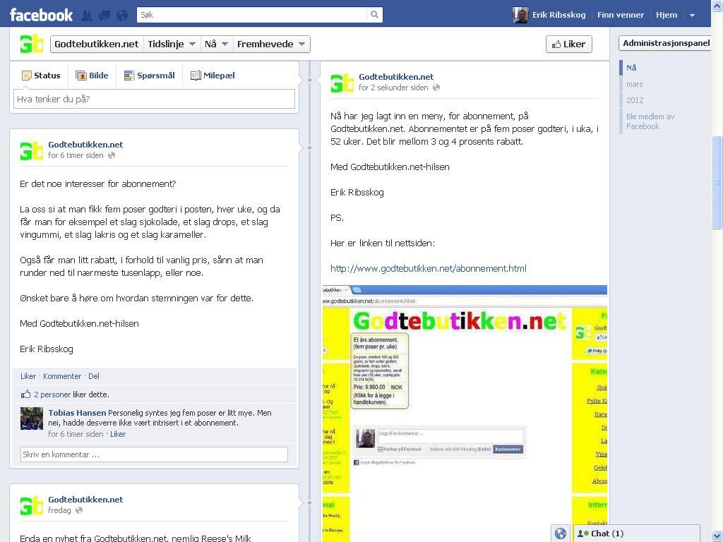 nytt godteabonnement facebook