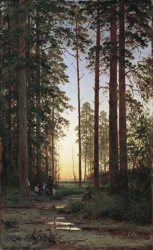 Ivan Shishkin - Edge of the Forest [1879] by Gandalf's Gallery