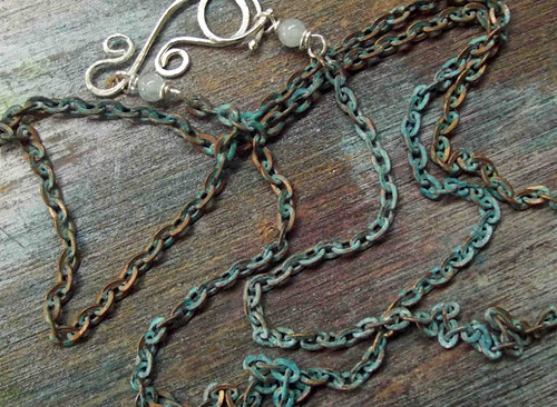 Patinated Chain with Oversized Clasp