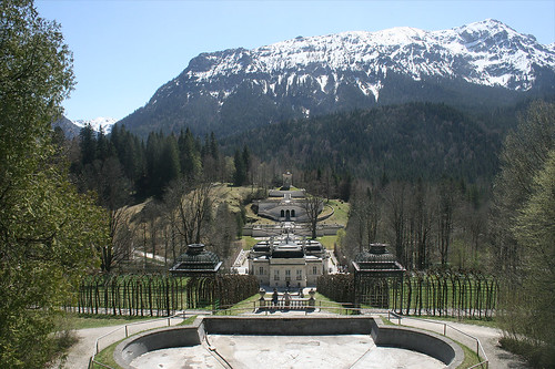 Blick auf Linderhof