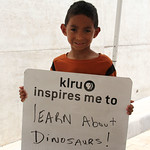 KLRU inspires me to... learn about dinosaurs!