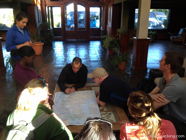 Christian briefs us before we leave El Calafate