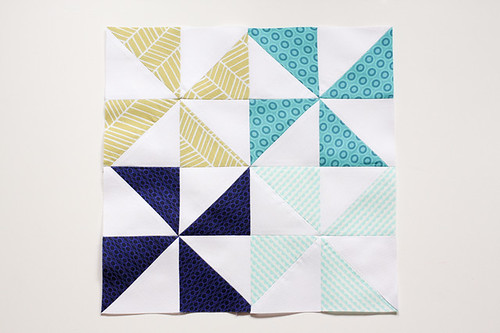 Half-Square Triangle Block of the Month April Quilt Block Tutorial - In Color Order
