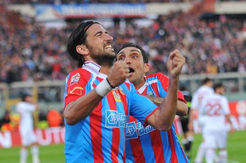 """Il """"Cabezazo"""" di Spolli frena la Samp e lancia il Catania per l'ottavo posto$"""