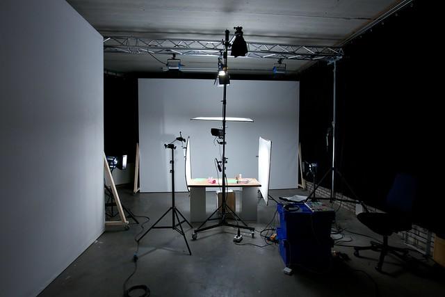 Studio voor de opnames