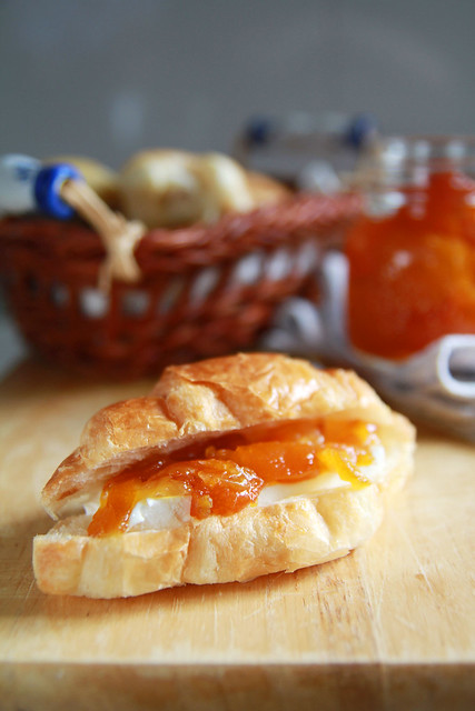 Breakfast - Croissant with Candied KumQuat & Cream Cheese