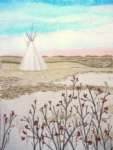 Tipi & Rosehips, 2012 by My Sweet Prairie - Monika Kinner
