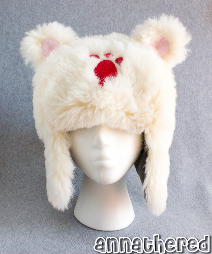 Ushanka hat prototype - fake fur ver.1 w/ cotton lining