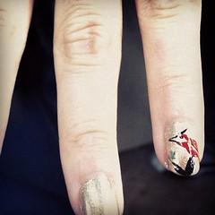 Sweet bird nail art! #nail