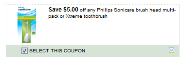Philips Sonicare Brush Head Multi-pack Or Xtreme Toothbrush Coupon